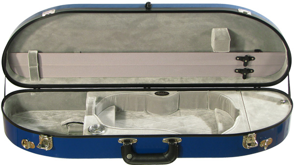 Bobelock Violin Case - Fiberglass Half-Moon Suspension, Velvet Interior