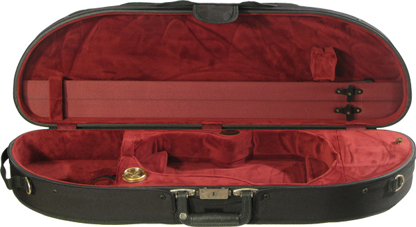 Bobelock Violin Case - Wooden Half-Moon Suspension, Velour Interior
