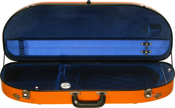 Bobelock Viola Case - Fiberglass Half-Moon Suspension, Velvet Interior - Adjustable