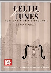 Mel Bay Celtic Fiddle Tunes for Solo and Ensemble, Violin 1 and 2 -Piano Accompaniment Included