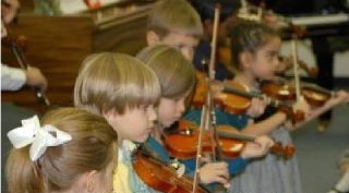 beginning violin students